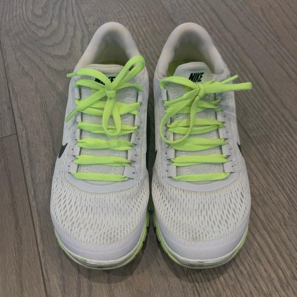 Nike Shoes - White/Neon Nike Sneakers